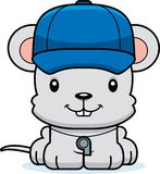 Cartoon Smiling Coach Mouse Royalty Free Stock Image