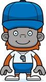 Cartoon Smiling Coach Orangutan Royalty Free Stock Photo