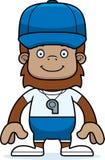 Cartoon Smiling Coach Sasquatch Royalty Free Stock Photography