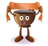 Cartoon Smiling coffee cup banner Stock Photos