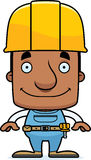 Cartoon Smiling Construction Worker Man Stock Photography