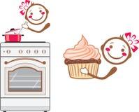 Cartoon smiling cook Stock Photography