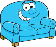 Cartoon smiling couch. Cartoon illustration of a smiling couch stock illustration