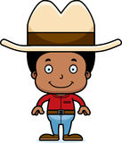 Cartoon Smiling Cowboy Boy Stock Photo