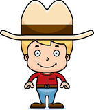 Cartoon Smiling Cowboy Boy Royalty Free Stock Image