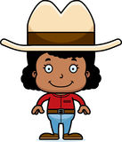 Cartoon Smiling Cowboy Girl Royalty Free Stock Images