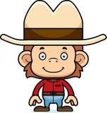 Cartoon Smiling Cowboy Monkey Royalty Free Stock Photography