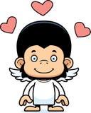 Cartoon Smiling Cupid Chimpanzee Royalty Free Stock Photo