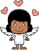 Cartoon Smiling Cupid Girl Stock Photo
