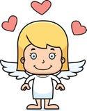 Cartoon Smiling Cupid Girl Royalty Free Stock Image