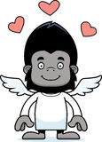 Cartoon Smiling Cupid Gorilla Stock Photo