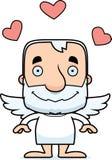 Cartoon Smiling Cupid Man Royalty Free Stock Image