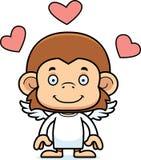 Cartoon Smiling Cupid Monkey Stock Photos