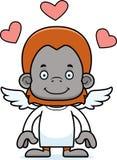 Cartoon Smiling Cupid Orangutan Royalty Free Stock Image