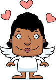 Cartoon Smiling Cupid Woman Stock Photo