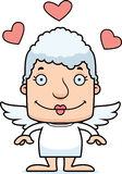 Cartoon Smiling Cupid Woman Stock Image