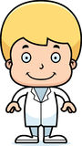 Cartoon Smiling Doctor Boy Stock Image
