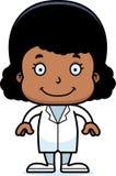 Cartoon Smiling Doctor Girl Stock Photos