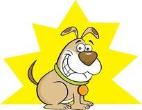Cartoon smiling dog. Stock Image