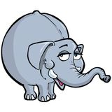 Cartoon of a smiling elephant Stock Image