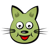 Cartoon smiling face cat Royalty Free Stock Photos