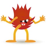 Cartoon Smiling Fire Royalty Free Stock Photography