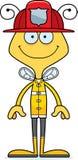 Cartoon Smiling Firefighter Bee. A cartoon firefighter bee smiling Royalty Free Stock Images