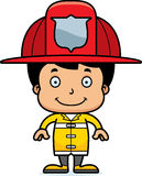 Cartoon Smiling Firefighter Boy. A cartoon firefighter boy smiling Royalty Free Stock Photos