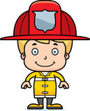 Cartoon Smiling Firefighter Boy. A cartoon firefighter boy smiling Stock Photography