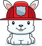 Cartoon Smiling Firefighter Bunny. A cartoon firefighter bunny smiling Royalty Free Stock Photo