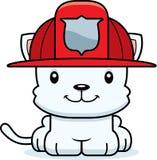 Cartoon Smiling Firefighter Kitten. A cartoon firefighter kitten smiling Stock Photos