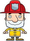 Cartoon Smiling Firefighter Man Stock Photo