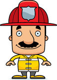 Cartoon Smiling Firefighter Man. A cartoon firefighter man smiling Royalty Free Stock Photography