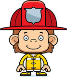 Cartoon Smiling Firefighter Monkey Stock Photos