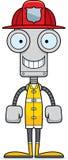 Cartoon Smiling Firefighter Robot Royalty Free Stock Photos