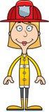 Cartoon Smiling Firefighter Woman Royalty Free Stock Photos