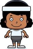 Cartoon Smiling Fitness Girl Royalty Free Stock Photo