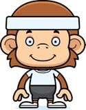 Cartoon Smiling Fitness Monkey Stock Images