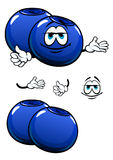 Cartoon smiling fresh blueberry characters Royalty Free Stock Photo