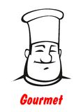 Cartoon smiling friendly chef Stock Image