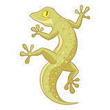 Cartoon smiling Gecko. Vector image of the Cartoon smiling Gecko Royalty Free Stock Image