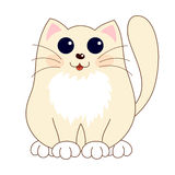 Cartoon smiling gentle beige kitty with ginger Royalty Free Stock Photography