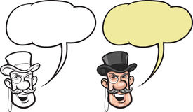 Cartoon smiling gentleman face. Vector illustration of cartoon smiling gentleman face royalty free illustration