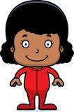 Cartoon Smiling Girl In Pajamas Stock Images