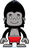 Cartoon Smiling Gorilla Swimsuit Stock Photo