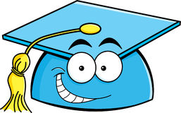 Cartoon smiling graduation cap Royalty Free Stock Photos