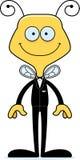 Cartoon Smiling Groom Bee Royalty Free Stock Image