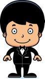 Cartoon Smiling Groom Boy Stock Photo