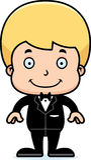 Cartoon Smiling Groom Boy Stock Image