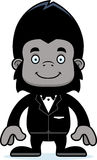 Cartoon Smiling Groom Gorilla Royalty Free Stock Photography